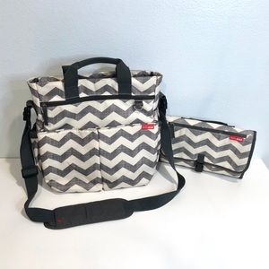 Skip Hop Chevron Diaper Bag with Changing Pad